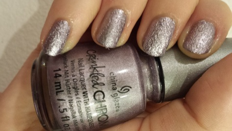 China Glaze Crinkled Chrome Crush Crush Baby