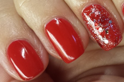 Essie Really Red Liquid Sky Lac Key to my Heart