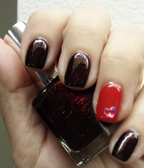 Pure Ice Glass Bordeaux, Essie Really Red1