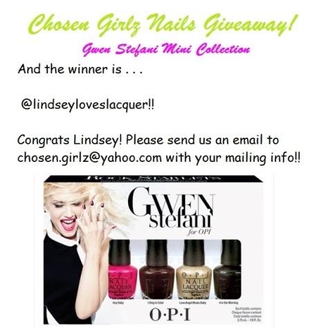 Stefani Giveaway - Winner